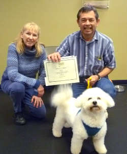 graduate from dog training