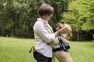Rachel Thornton and her dog
