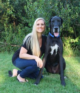 Jenna Powell and her dog Bentley